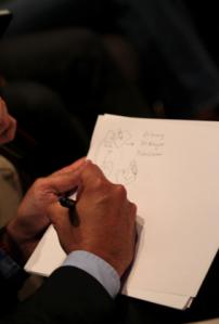 Marco Colín dio a conocer su vida a través de dibujos / FotoUP