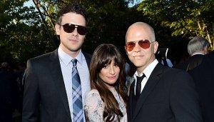 Cory Monteith, Lea Michele y Ryan Murphy. Cortesía: europapress.es