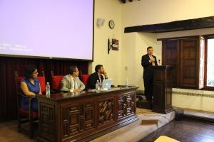 De izquierda a derecha: Cecilia Román, José Luis López Aguirre, Eduardo Reyes y José Luis Ortiz Garza / Foto: César Jasso