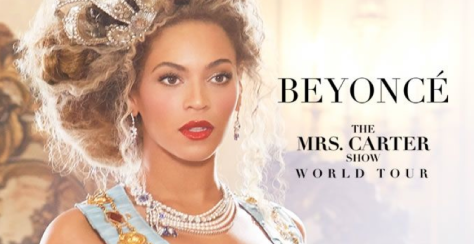 "Cartel de ""Mrs. Carter show world Tour"" / Cortesía: beyonce.com"