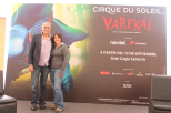 Renato Herrera y Cynthia después de la conferencia de prensa / Foto: Arturo Manjarrez