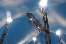 Dentro de la carpa del Cirque Du Soleil / Foto: Arturo Manjarrez