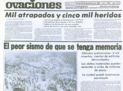 Terremoto, 1985