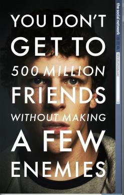 """Póster oficial de """"The Social Network"""". Crédito: Micropsia."""