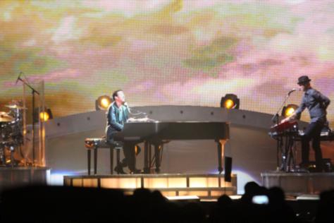 Lionel destiló talento al tocar el piano. Crédito: Paola Ortiz