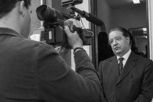 Manuel Alonso Coratella también fue entrevistado por equipo de TeleUP / Foto: César Jasso