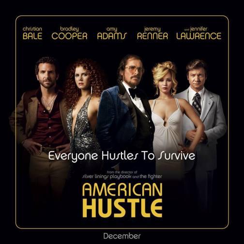 American Hustle póster. Crédito Facebook.com