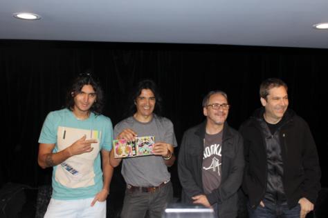 De izquierda a derecha: Juan Pablo Staiti, Felipe Staiti, Marciano Cantero y Jota Morelli.