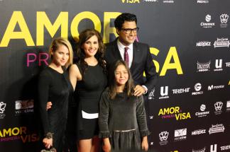 De izquierda a derecha: Laura Ramsey, Aurora Papile, Renata Ybarra y Jaime Camil
