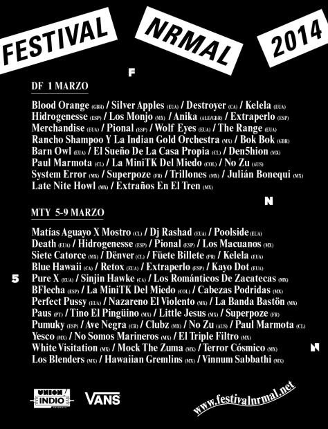 El festival contará con artistas de Reino Unido, Canadá, Estados Unidos, Alemania y México/Nrmal.net