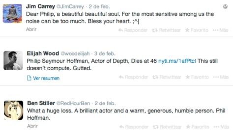 Twitter,  Philip Seymour Hoffman