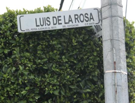 Luis de la Rosa, de calle en calle