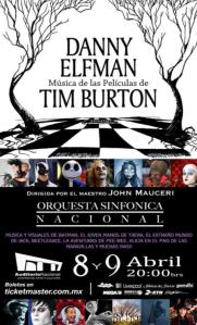 Danny Elfman se presentará este 8 y 9 de abril en el Auditorio Nacional / Imagen: ticketmaster.com
