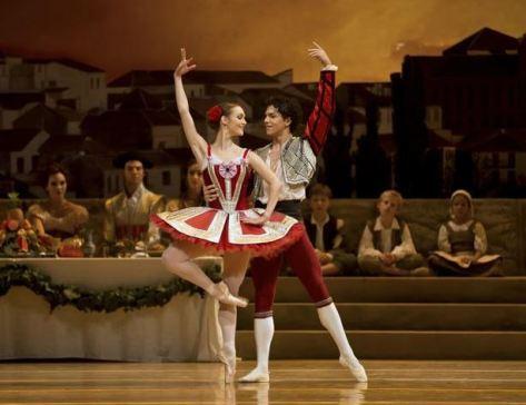 Isaac Hernández y Jurgita Dronina en 'Don Quijote'- Emma Kauldhar, danceeurope.net