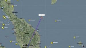 Última ubicación del vuelo MH370 / Crédito: BBC