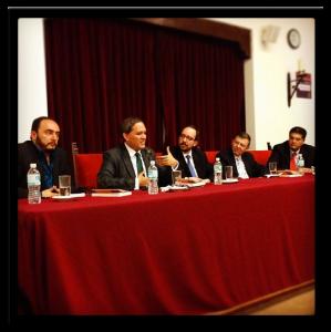 De izquierda a derecha: Ulises Castellanos, Mariano Navarro, Óscar Colorado, José Luis Ortiz, Jacinto Valdés / Fotografía: Montserrat Valdés, oscarenfotos.com
