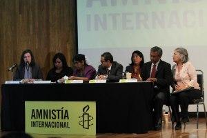 En la conferencia se presentaron los temas más relevantes para México en materia de derechos humanos / Foto: Andrea Saint Martin